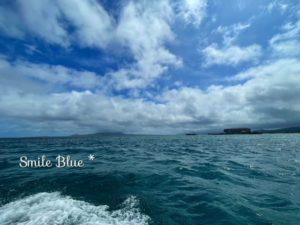 万座の海と晴れた空