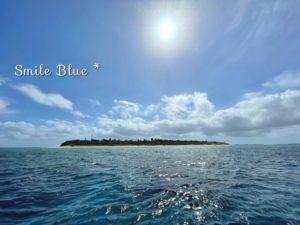 晴れた空と水納島