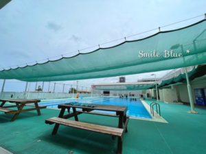 宜野湾マリン支援センターの広い25mプール